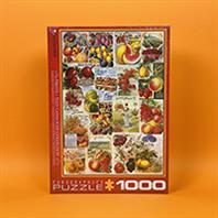 پازل 1000 تکه یوروگرافیکس طرح Fruits Seed Catalog Collection (میوه ها)