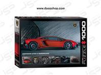 پازل 1000 تکه یوروگرافیکس طرح Lamborghini Aventador 750-4 SV (لامبورگینی اونتادور)   0871 Eurographics