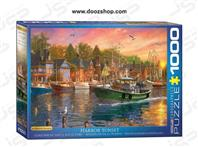 پازل 1000 تکه یوروگرافیکس طرح Sunset Harbor (غروب بندرگاه)   0969 Eurographics
