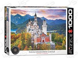پازل 1000 تکه یوروگرافیکس طرح Neuschwanstein Castle in winter (قلعه نووشوانشتاین در زمستان) | Eurographics 5419