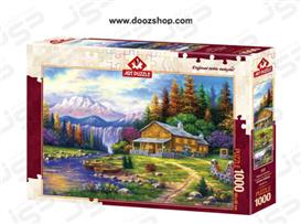پازل 1000 تکه آرت پازل طرح طلوع خورشید از پشت کوه ها - 4230 Art Puzzle Sunset In The Mountains
