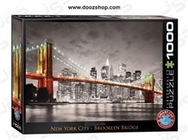 پازل 1000 تکه یوروگرافیکس طرح پل بروکلین - Eurographics New York City Brooklyn Bridge 0662