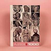 پازل 1000 تکه یوروگرافیکس طرح Marilyn Monroe Red Lips (مرلین مونرو)