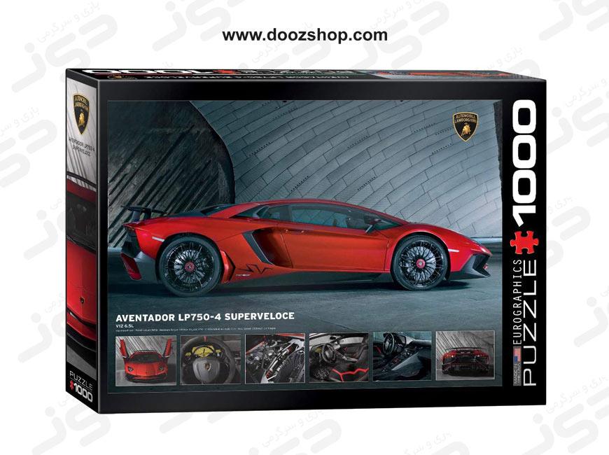 پازل 1000 تکه یوروگرافیکس طرح Lamborghini Aventador 750-4 SV (لامبورگینی اونتادور) | 0871 Eurographics